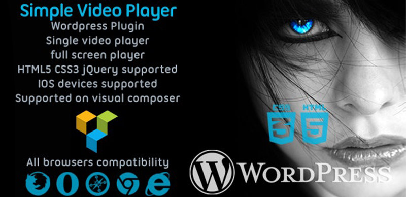 Simple Video Player svPlayer Plugin For Visual Composer