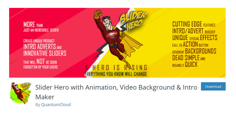Slider Hero with Animation