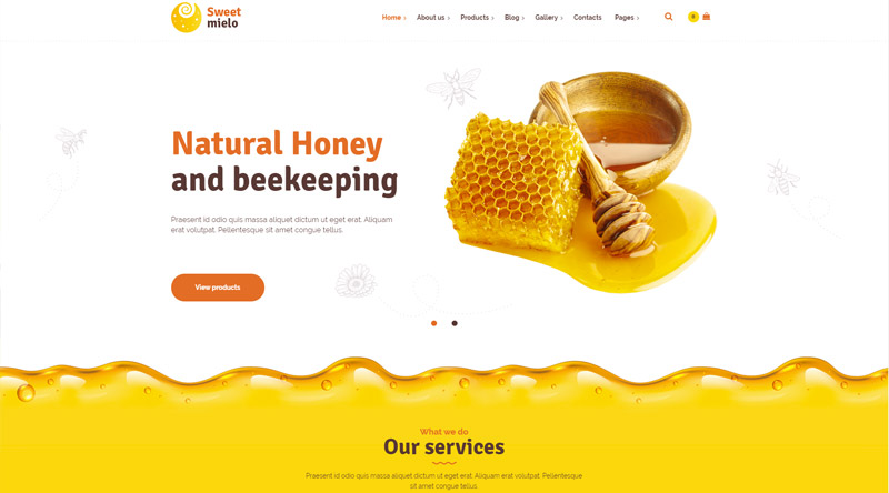 SweetMielo Honey WordPress Themes