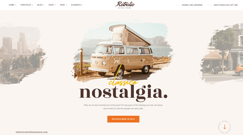 Vintage Retrolie WP Theme