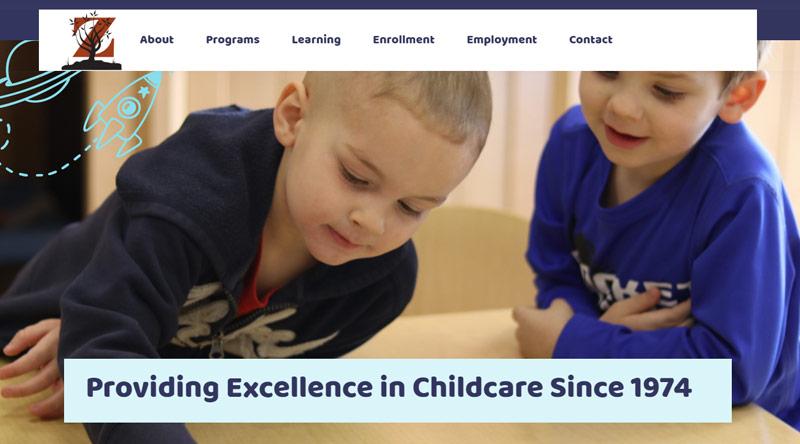 Zearing Child Enrichment Center website