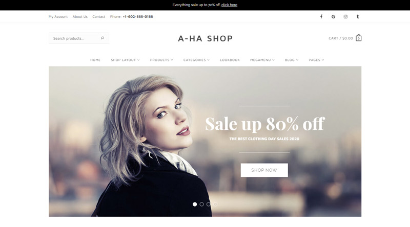 AhaShop WP theme