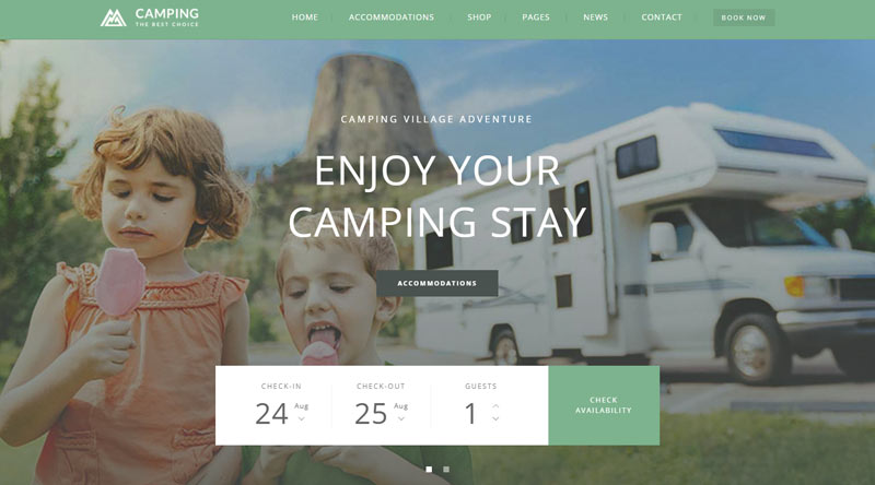 Camping Village WP Theme