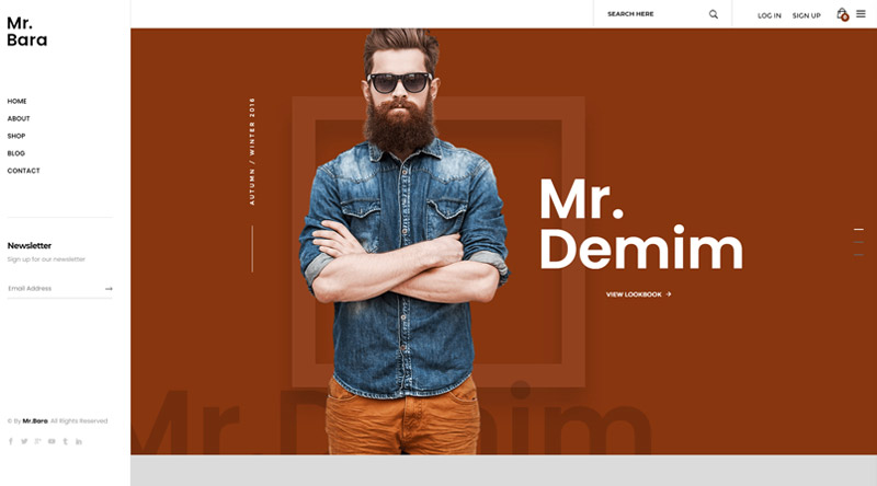 Mr.Bara WordPress Theme