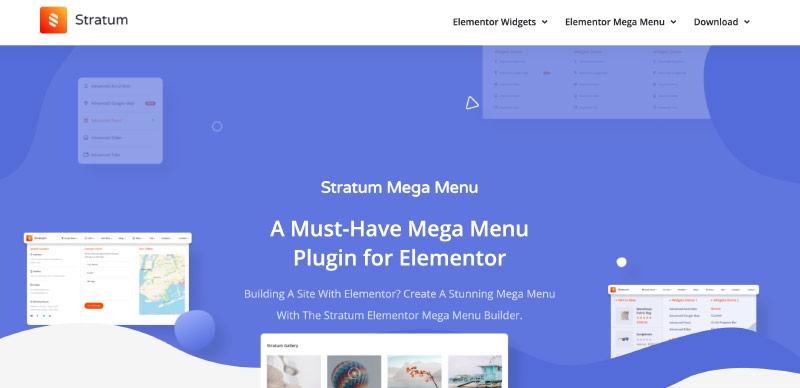 Stratum Mega Menu for Elementor