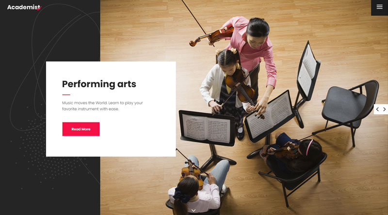 Academist Music School WP Theme