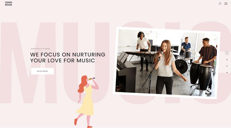 SongBook WordPress Theme