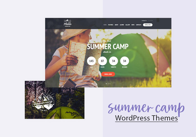 Summer Camp WordPress Themes banner