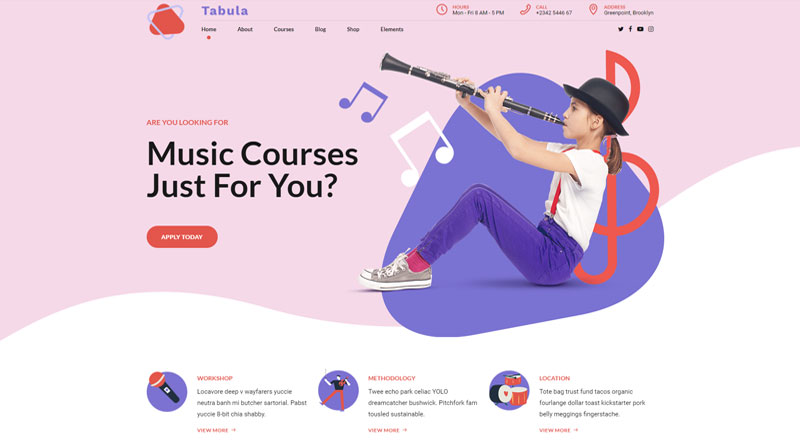 Tabula WordPress Theme