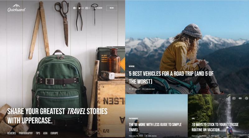 Uppercase WordPress Theme
