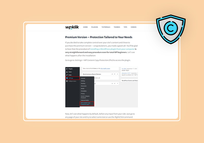 WP Content Copy Protection Plugin : Protect Your Content from Unauthorized Use
