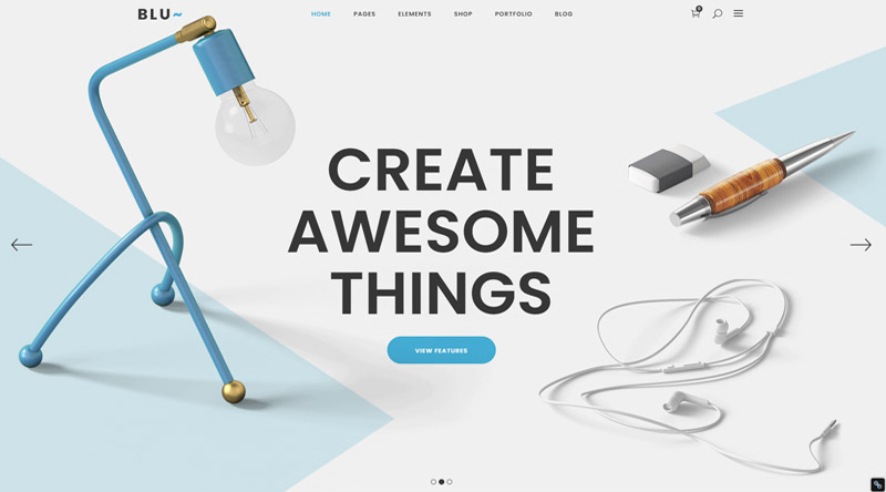 Blu WordPress Theme