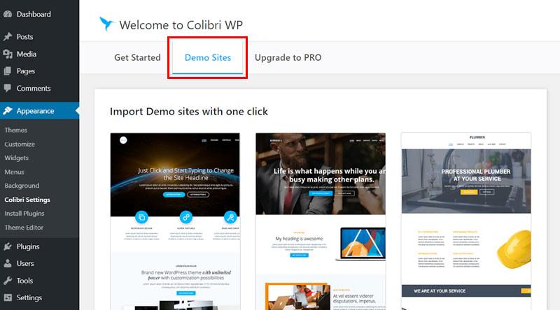 ColibriWP Demos