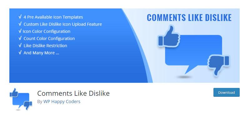 Comments Like Dislike Plugin