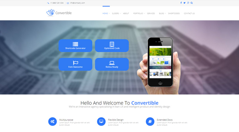 Convertible WordPress Theme