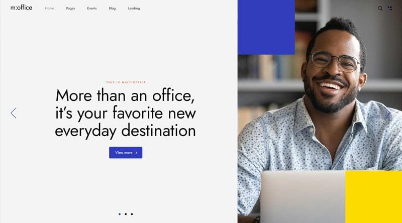 MultiOffice blue WordPress theme