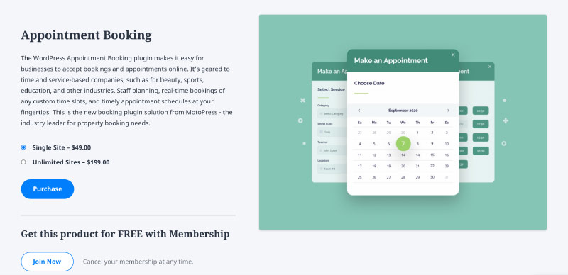 WordPress Appointment Booking by MotoPress