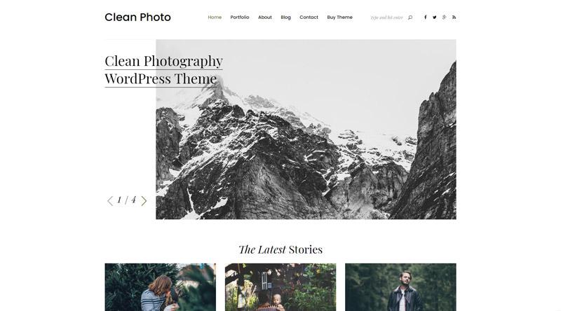 Clean Photo WordPress Theme