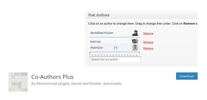 Co-Authors Plus plugin