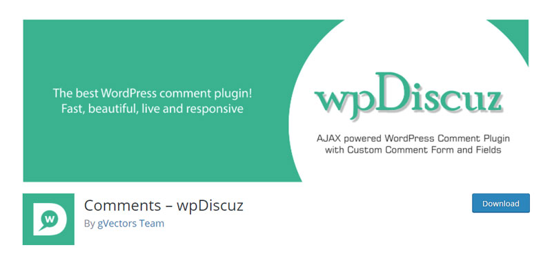 Comments wpDiscuz plugin