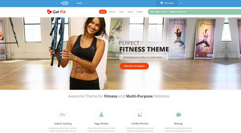 GetFit WP themes