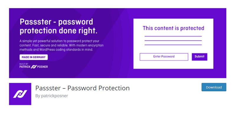 Passster Password Protection Plugin