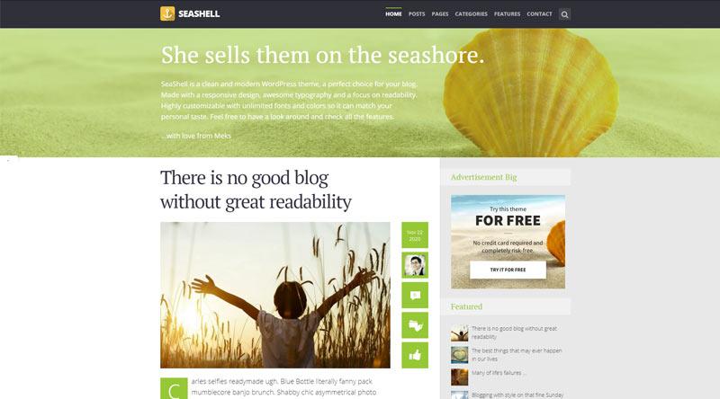 SeaShell WordPress Theme