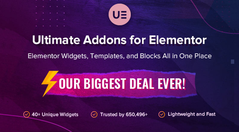 Ultimate Addons for Elementor discount