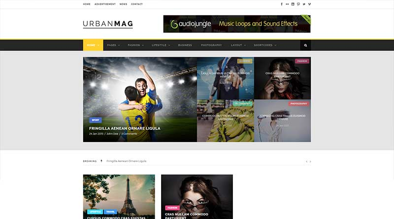 UrbanMag WordPress Theme