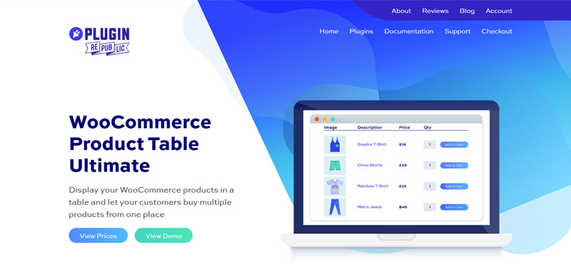 WooCommerce Product Table Ultimate