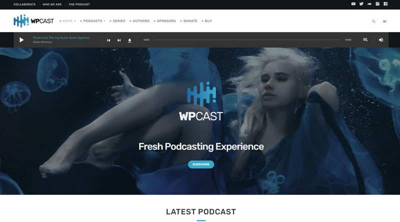 Wpcast Podcast WordPress Theme