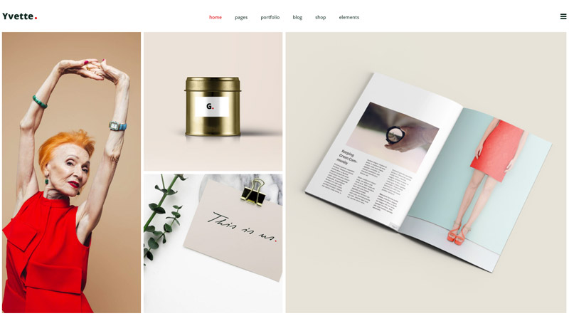 Yvette Pinterest WordPress-Theme