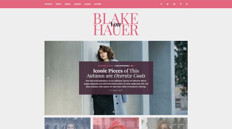 Blake von Hauer WordPress Theme