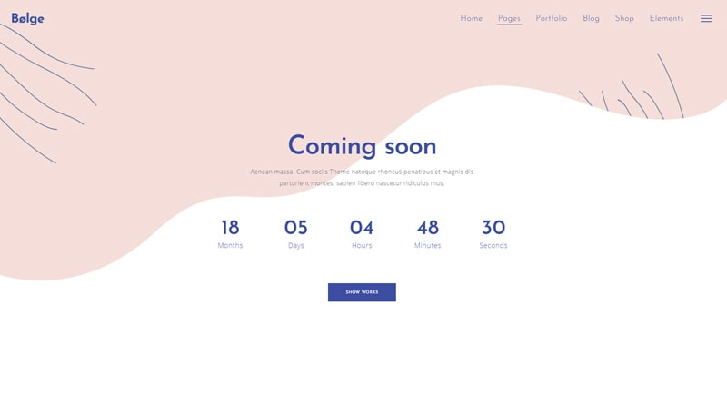 Bolge Coming Soon WordPress Themes
