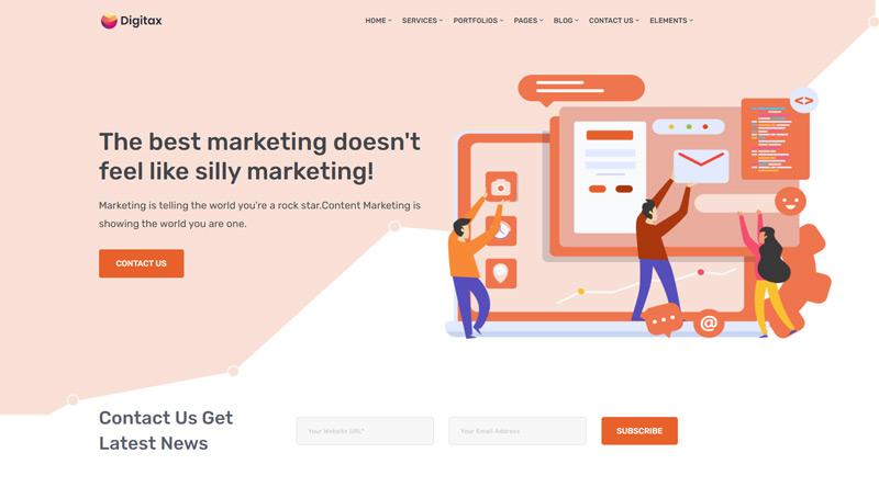 Digitax WordPress theme