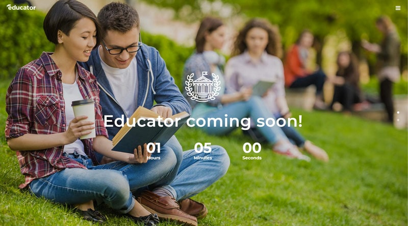 Educator Coming Soon WordPress Themes