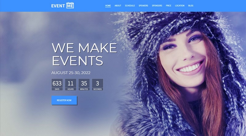 EventMe Coming Soon WordPress Themes
