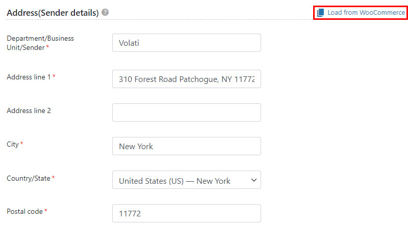 Load details from WooCommerce