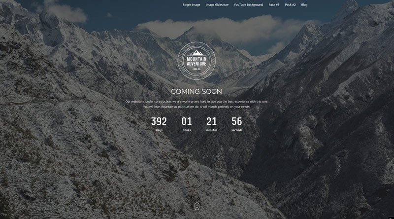 Mountain Coming Soon WordPress Themes