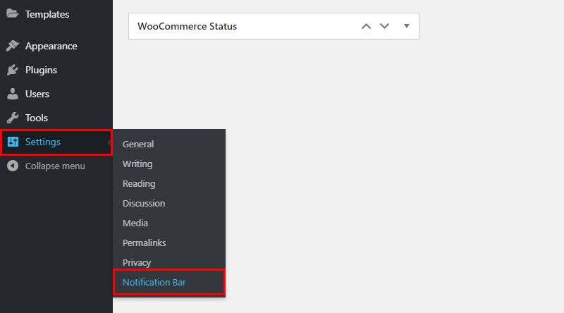 Notification Bar settings