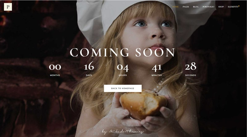 Panaderia Coming Soon WordPress Themes