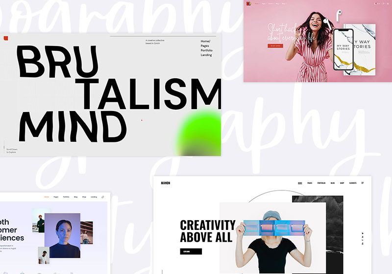 Stunning Typography WordPress Themes