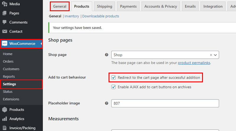 Automaticly redirect to cart