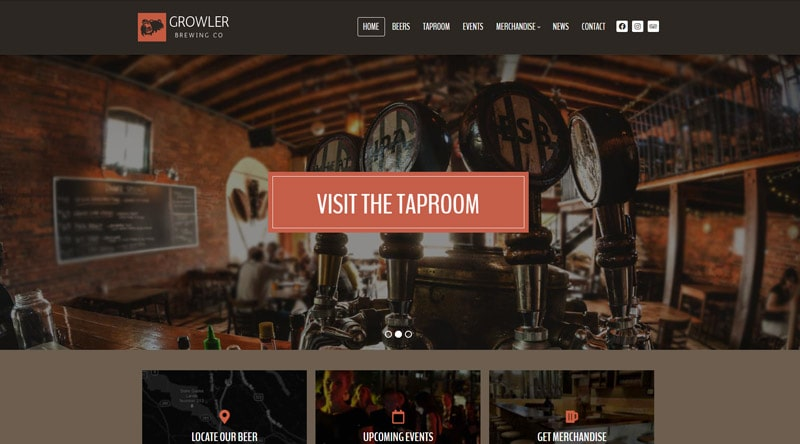 Growler WordPress Theme
