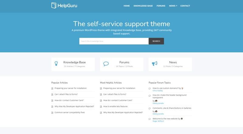 HelpGuru WordPress Theme