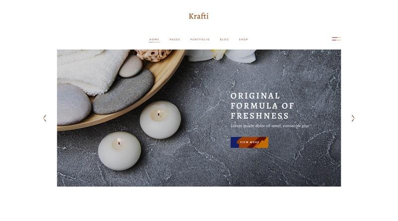 Krafti candle WordPress Theme