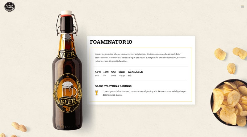 Pints&Crafts WordPress Theme