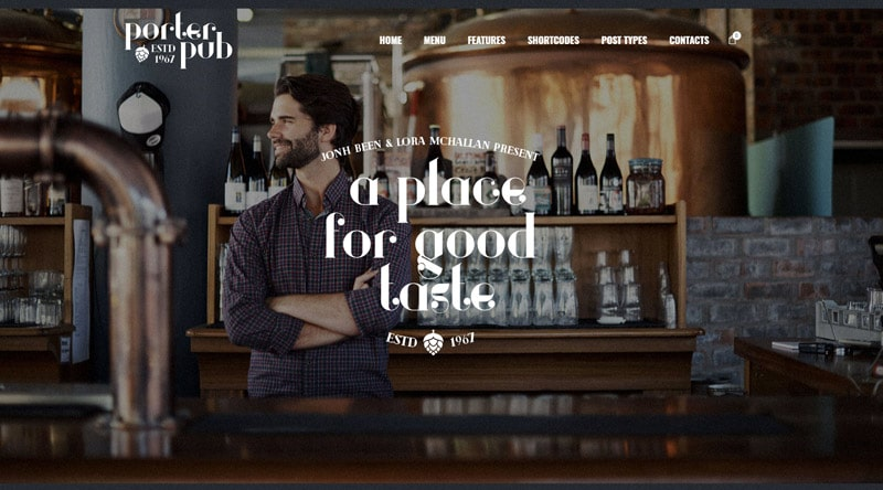 Porter Pub WordPress Theme