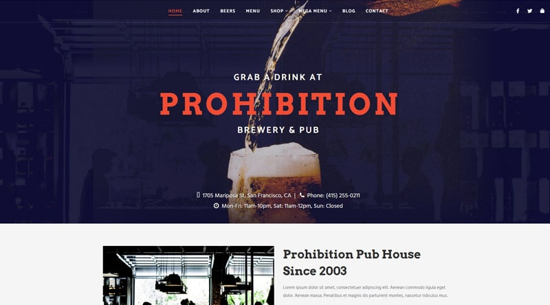 Prohibition WordPress Theme