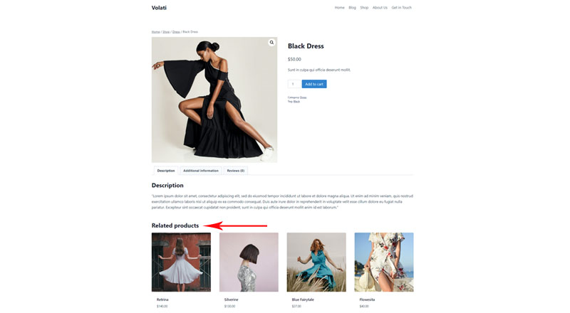 Related products wordpress